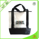 Freies Plastikx12 des strand-Bags12 X 6 Tote-Handtasche mit schwarzen Griffen