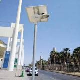 40W todo en una lámpara de calle solar con sensor de movimiento