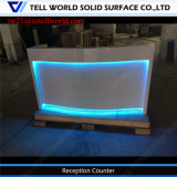 Contemporary Corian Acrylic Solid Surface Office Front Desk Counter