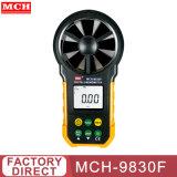 Anémomètre numérique compteur mesurant la vitesse du vent mch-9830F