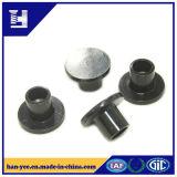 Rebitador de cabeça lisa de zinco / níquel preto
