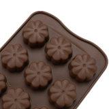 El molde material del silicón de la categoría alimenticia del certificado del FDA, flor 15PCS formó el molde de /Chocolate del molde del pudín del silicón