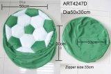 緑および白いフットボールの椅子カバーホーム装飾