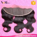 Закрытие 100% Frontal шнурка 13X4 объемной волны волос девственницы бразильское