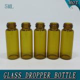 0.5oz 5ml mini bernsteinfarbige Glasflasche mit Tropfenzähler-Röhrenglasphiole