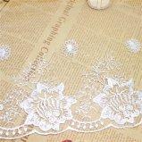 Merletto netto di nylon della maglia di immaginazione della guarnizione del ricamo del poliestere del merletto del commercio all'ingrosso 17cm della fabbrica del ricamo di riserva di larghezza per l'accessorio degli indumenti & le tessile domestiche (BS1094)