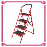 El color rojo hogar escaleras portátiles