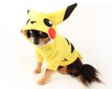 Cane Hoodie di Pokemon del cane di Pikachu nel colore giallo