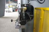 Dobladora plateada de metal Wf67k-100t/3200 de la hoja hidráulica del CNC (NC)