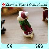De met de hand gemaakte Hond van Kerstmis van de Hars van de Douane Dierlijke Mini voor de Decoratie van Kerstmis