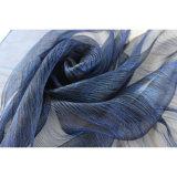 Ladayのための金属カラー3D絹のスカーフを識別しなさい