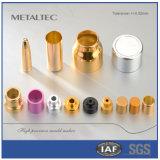 Parte de metal de alta precisão do boné de garrafa cosmética Aliminum