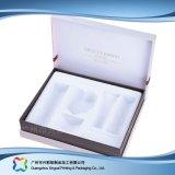 Envases de papel/cartón madera Regalo/Joyas/Cuadro de cosméticos (XC-HBC-008)