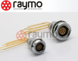 Puxador de pressão circular do painel traseiro Conector de fio fêmea