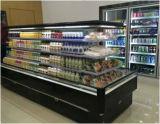 Congelador do console do gabinete para o supermercado