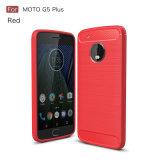 Grande cassa del telefono mobile della fibra del carbonio di formato di 5.5 pollici per Moto G5