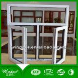 Conception grillés UPVC Vitre coulissante de la fenêtre de portes et fenêtres en plastique