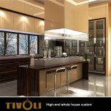 Camminata bianca della pittura in armadio da cucina su ordinazione della mobilia della Camera piena dell'armadio Tivo-054VW