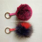 avec ou sans les Pompoms colorés de fourrure de Fox du porte-clés POM