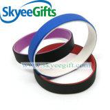 Braccialetto doppio del silicone di strato di sport all'ingrosso variopinto di alta qualità