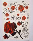 Большое искусствоо тела цветет временно стикер Tattoo искусствоа стикера Tattoo