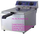 Contre- première friteuse électrique à réservoir unique de l'acier inoxydable 10L de film publicitaire avec le certificat de la CE (WF-101)