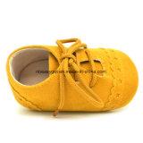 Мальчики ребёнка шнуруют вверх ботинки Esg10212 малыша Soled тапок мягкие Anti-Slip