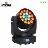indicatore luminoso capo mobile della lavata dello zoom di 19X10W RGBW 4in1