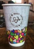Impresos personalizados de papel de pared doble taza de café