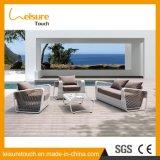 Insieme di alluminio di vimini del sofà della stanza di seduta del rattan del patio del giardino di svago della mobilia esterna del raggruppamento