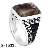 좋은 모형 925 순은 아랍어는 CZ 남자 반지를 유행에 따라 디자인 한다