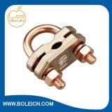 接地電光のための接地棒のU字型ボルトクランプ銅クランプ