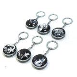 도매 휴대용 선전용 기념품 금속 Keychain Hx-8473