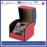 Rectángulo de empaquetado de encargo de lujo del reloj de Mens con la pieza inserta de la almohadilla
