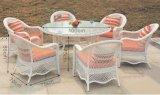 5 Ratan частей стола стула обедая установленная мебель ротанга
