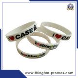 Bracelets faits sur commande de silicones de logo de mode pour la promotion