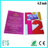 4.3 Zoll LCD-videogruß-Karte/Einladungs-Karte