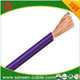 Fio flexível isolado Cable/PVC preto da soldadura de H05V-K 300/500V 0.75mm2