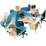 현대 교차하는 컴퓨터 책상 사무실 4 사람 워크 스테이션