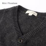 Los niños tejidos de lana suéter Cardigan para otoño/invierno