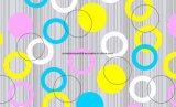 100%Polyester de Afgedrukte Stof van de Cirkel van de kleur Pigment&Disperse voor de Reeks van het Beddegoed