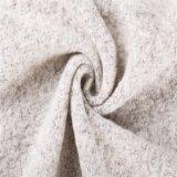 Fiore composto, tessuto del poliestere delle lane in grigio-chiaro