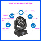 Indicatore luminoso capo mobile dello zoom 36PCS*12W RGBW di DMX LED