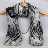 Sciarpa diTintura del poliestere, scialle dell'accessorio di modo delle ragazze, sciarpe