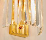 Luxo Post Modern Style Hotel Crystal Sconce Luminária de parede para sala de estar