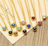 Rhinestone de la aleación de oro pequeñas bolas de plástico collar de la joyería 916 de la moda