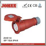 IP44 4p 16A eingehangener Oberflächenstecker für industrielles