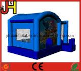 Kundenspezifischer aufblasbarer Schlag-Haus-Schloss-Überbrückungsdrahtmoonwalk-Prahler