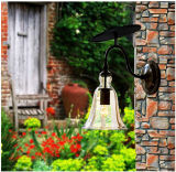 Luminária de vidro para cima e para baixo Luz de parede LED solar para decoração de casa e casa