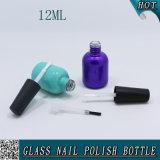 化粧品12mlは紫外線カスタムプリント液体のマニキュアの包装のガラスビンを空ける